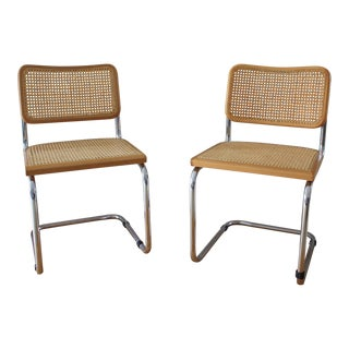 1970s Vintage Marcel Breuer Cesca Style Chairs- a Pair For Sale