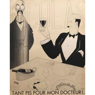 Original French Art Deco Paul Iribe Nicolas Print, Tant Pis Pour Mon Docteur For Sale