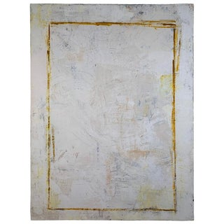 2018 Robin Phillips Double Rectangle Plaster and Dye on Canvas Painting For Sale