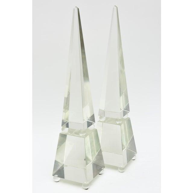 Fine Pair of Monumental Murano Glass Obelisks by Alberto Dona For Sale - Image 9 of 9