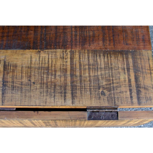 1950s Spanish Colonial Folding Gateleg Table For Sale - Image 5 of 12