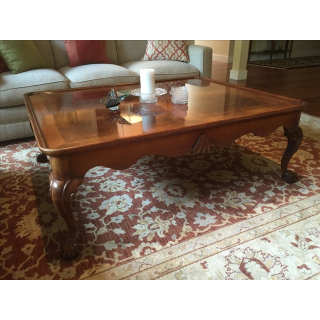 Chippendale Style Henredon Mahogany Coffee Table - Image 4 of 9