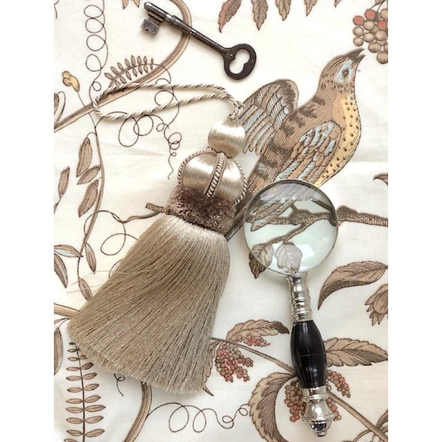 2010s Taupe Key Tassel With Cut Velvet Ruche For Sale - Image 5 of 10