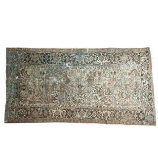 "Vintage Distressed Mehrivan Rug Runner - 4'7"" X 8'11"""