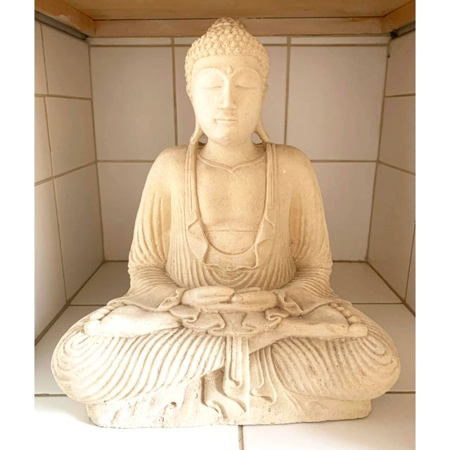 Large Stone and Plaster Cast Buddha from Bali. I acquired this in 2012 from an Asian store in Denver. It has been on...