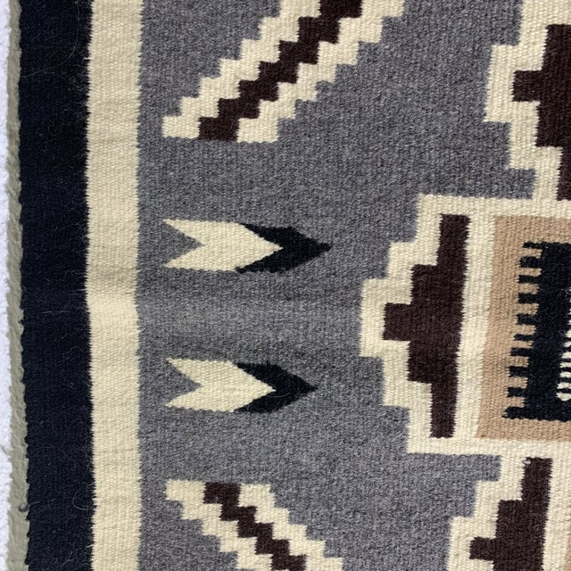 Textile Vintage Navajo Two Grey Hills Rug-2'4'x3'9 For Sale - Image 7 of 12