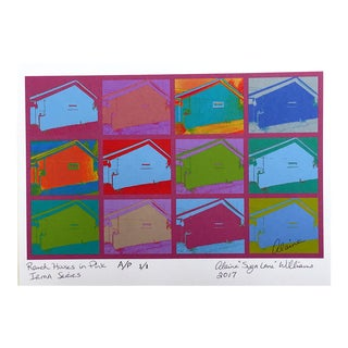 "Suga Lane ""Ranch Houses"" in Berry Irma Series 2017 Print"