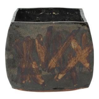 Small Studio Art Pottery Vase For Sale