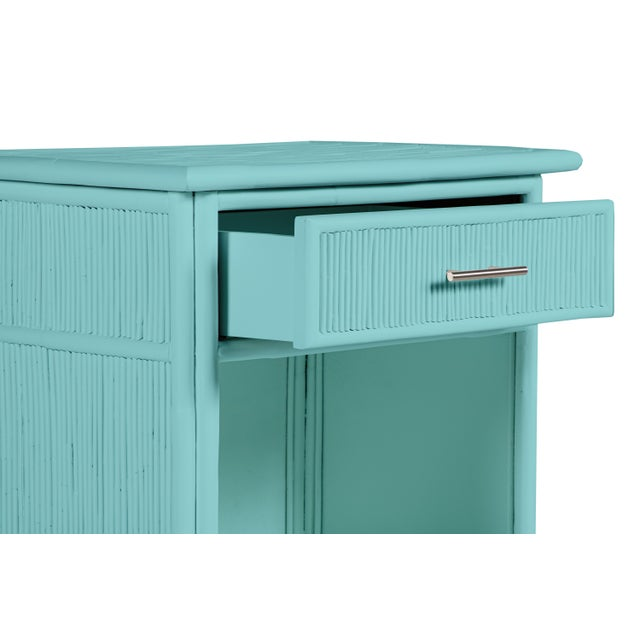 Aruba One-Drawer Nightstand - Turquoise For Sale In West Palm - Image 6 of 7