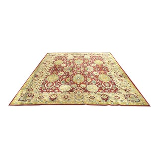 Antique Agra Pattern on German Tetex Area Rug - 8' x 11'