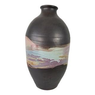Digangi Mid-Century Modern Sculptural Art Glazed Pottery Vase For Sale