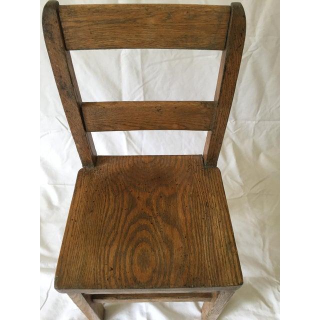 Oak Child's Desk Chair - Image 3 of 4