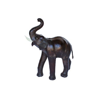 Monumental Size Leather Elephant For Sale