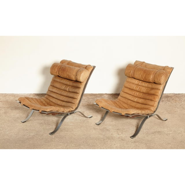 Mid-Century Modern Pair of Arne Norell Ari Chairs, Norell Mobler, Sweden, 1970s For Sale - Image 3 of 13