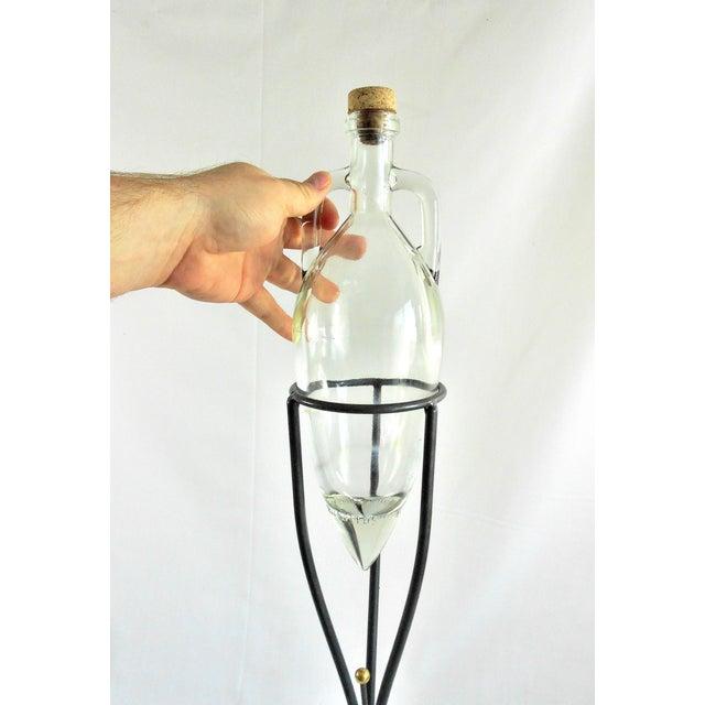 Gray 1970s Art Deco Shonfeld's USA Glass Vinegar Bottle For Sale - Image 8 of 11
