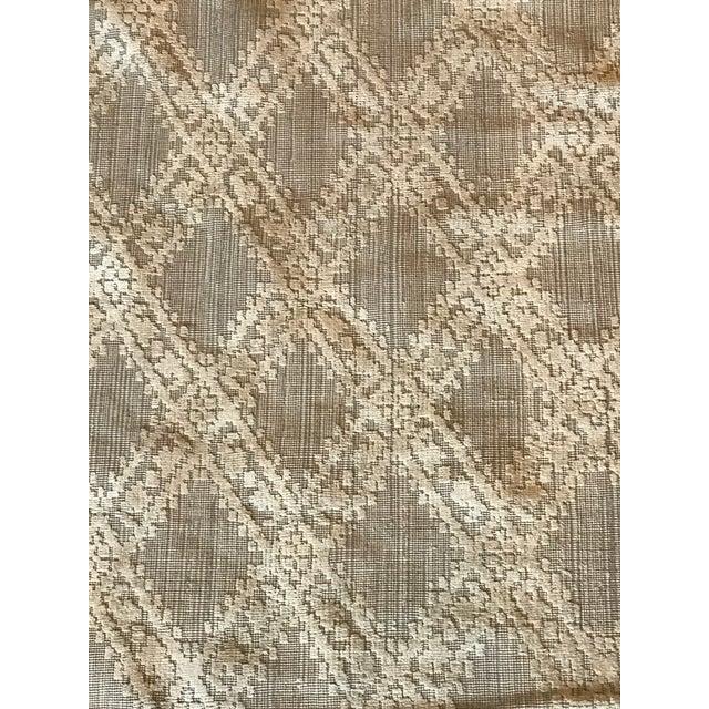Restoration Hardware Contemporary Beige Cotton Espaldar Rug Chairish