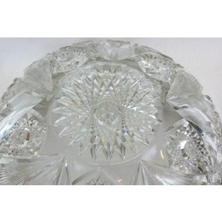 Large Victorian Crystal Punch Bowl With Sterling Lip Preview