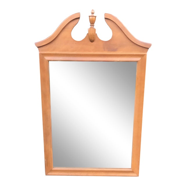 Ethan Allen Mid Century Baumritter Mirror With Finial For Sale