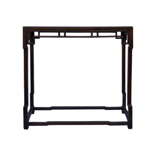Chinese Brown Huali Rosewood Ming Style Apron Side Altar Table For Sale