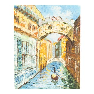 Impressionist Painting | the Canals of Venice | Vintage Art For Sale