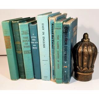 Vintage Turquoise Blue Aqua Books - Set of 8 Preview