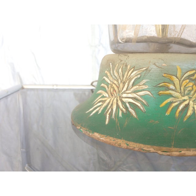 Floral Enamel Glass Table Lamp - Image 8 of 8