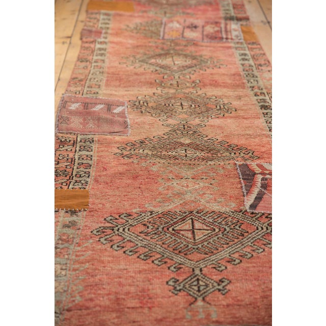 "Old New House Vintage Distressed Patchwork Oushak Rug Runner - 2'10"" X 10'7"" For Sale - Image 4 of 12"