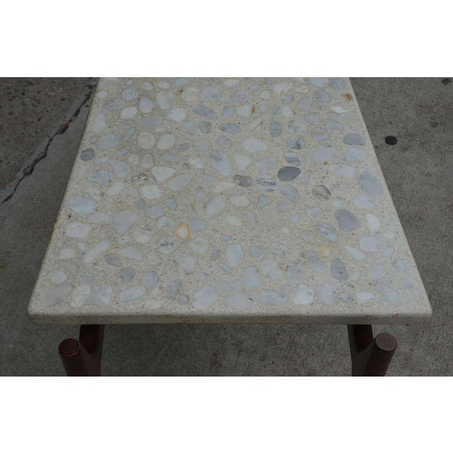 Rare Trapeze Terrazzo Side Table by Harvey Probber For Sale In Los Angeles - Image 6 of 7