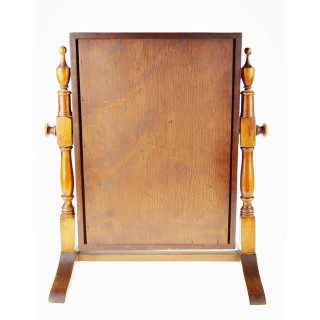 Vintage Wood Table Top Shaving Mirror For Image 4 Of 11