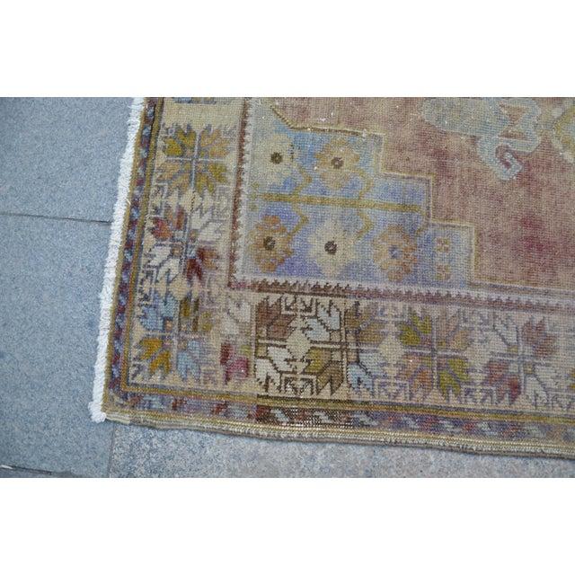 """Oushak Handmade Floor Carpet -- 3'7"""" x 6'7"""" For Sale In Austin - Image 6 of 6"""