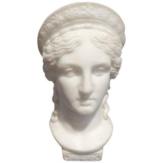 19th Century Italian Neoclassical Style Marble Bust For Sale