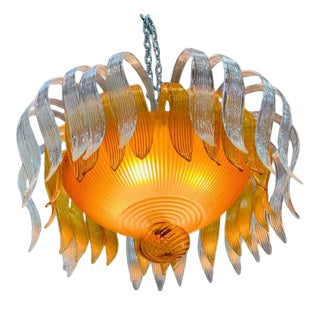 Stunning Murano Glass Chandelier For Sale