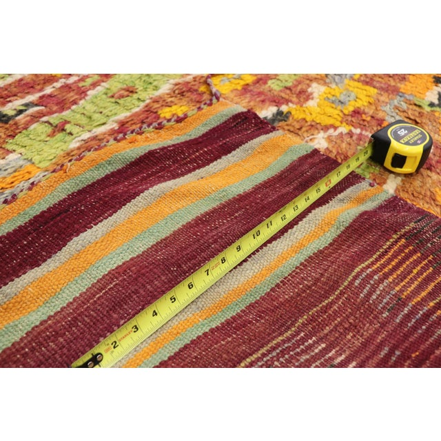 1950s Vintage Berber Ait Bou Ichaouen Moroccan Rug - 5'4 X 13'4 For Sale - Image 5 of 10