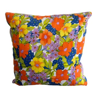 Vintage Scarf Decorative Pillow For Sale
