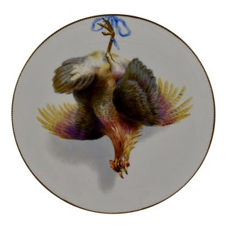 19th C. Bodley Staffordshire Dead Game Plate, the Hamburgh Fowl