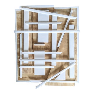 Graphic Wood Remnant Wall Art Sculpture For Sale