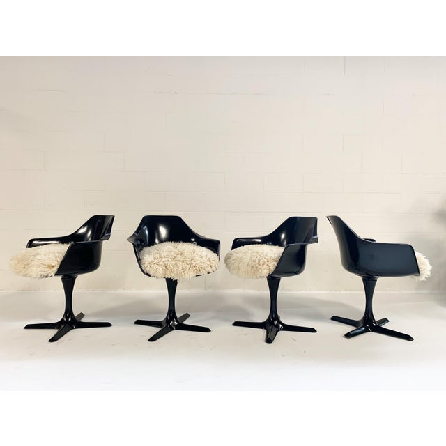 The tulip style chair from Burke Inc was inspired by the famous Eero Saarinen Tulip Chair. The most noticeable difference...