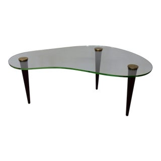 Gilbert Rohde Style Art Deco Floating Glass Cloud Coffee Table For Sale