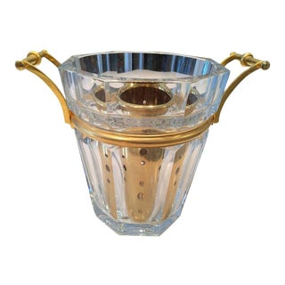 On HOLD-Vintage Baccarat French Champagne Bucket For Sale