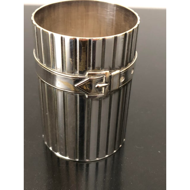 Rare silver plated brass pencil cup by Design legend, Maria Pergay.