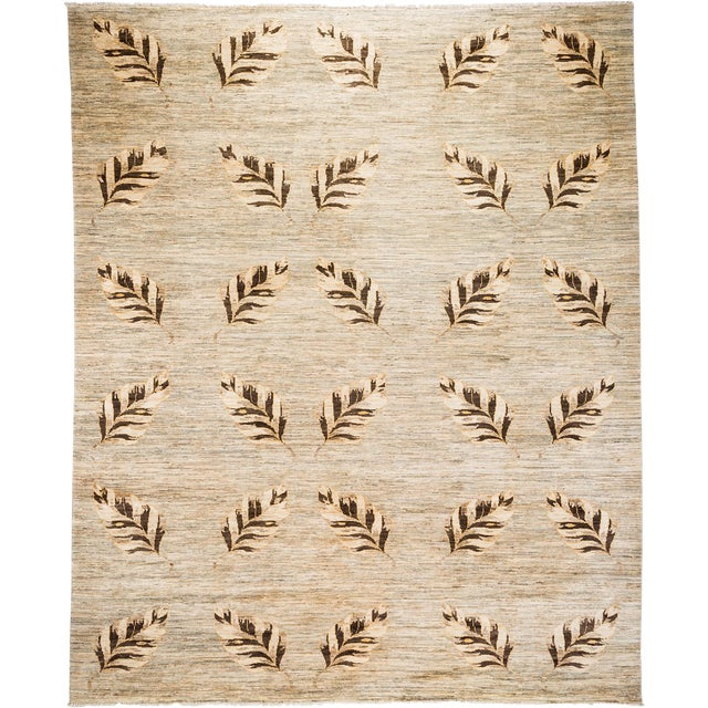 """New Transitional Hand Knotted Rug - 8' 3""""x10' 3"""" - Image 1 of 3"""
