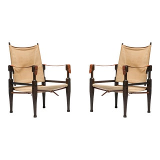 Safari Chairs Designed by Kaare Klint for Rud Rasmussen - 1960s For Sale