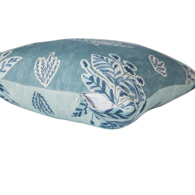 2020s Ferrick Mason Custom Emily Blue Knife Edge Pillows - a Pair For Sale - Image 5 of 6