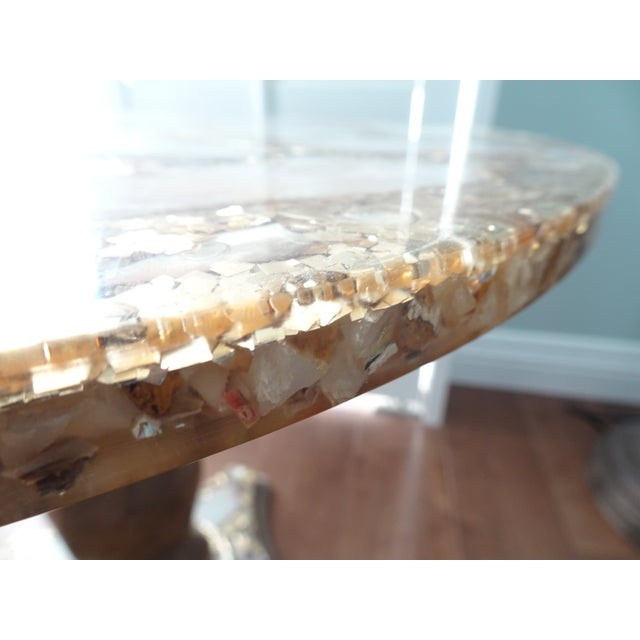 1970s Mexican Marble Side Table For Sale - Image 4 of 9