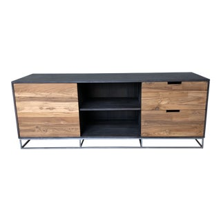 Mid-Century Modern CB2 Congo Media Credenza For Sale