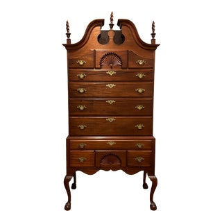 Antique Boston Chippendale Style Walnut Highboy For Sale