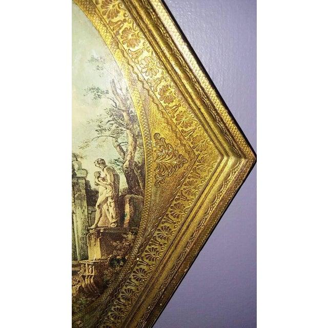 Vintage Italian Florentine Wood Tole Wall Hanging - Image 7 of 7