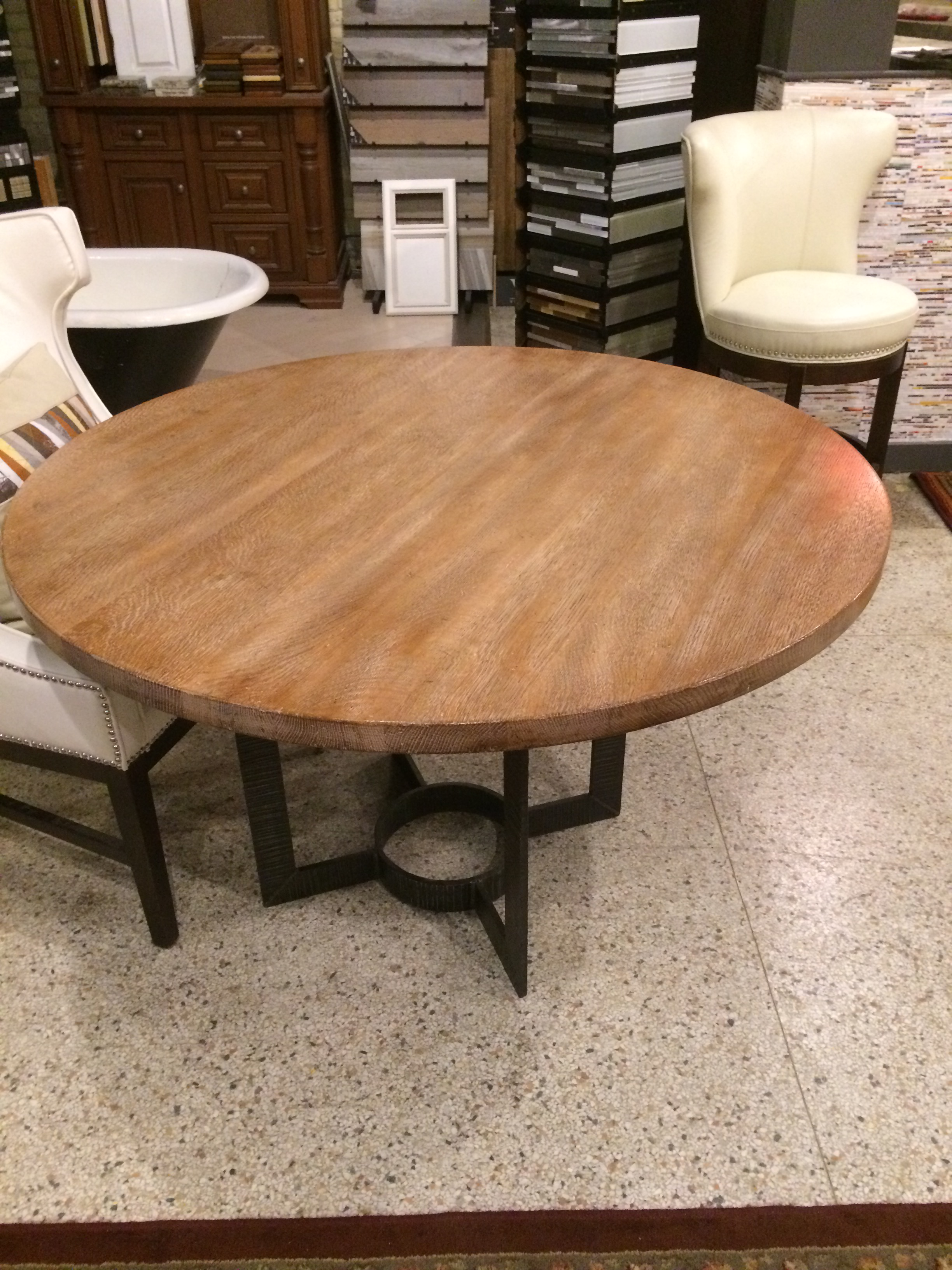 Perfect Wright Table Company Cerused Oak Dining Table   Image 5 Of 7