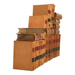 Set of 28 Antique American Leather Bound Law Books (Set Only)