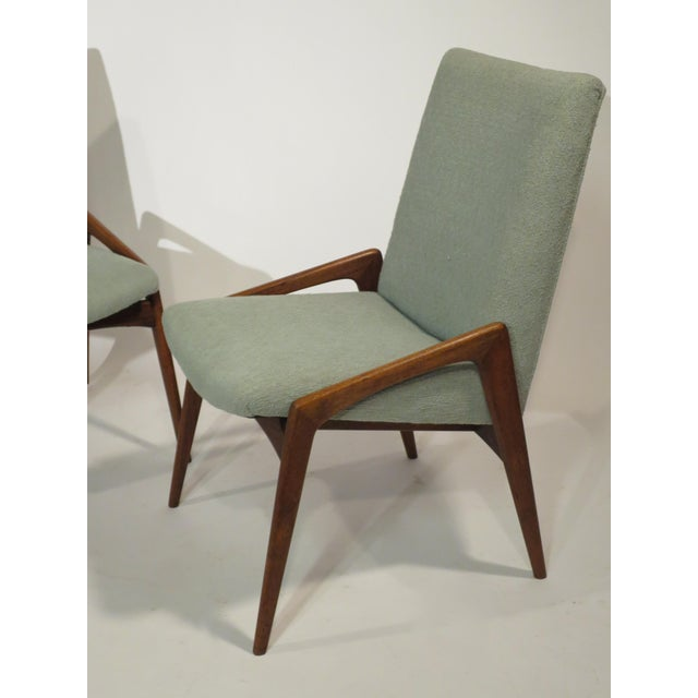 Midcentury Modern Walnut Dining Chairs - Set of 4 - Image 4 of 10